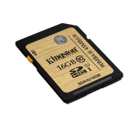 KINGSTON MEMORY CARD SD 16GB C10 UHS-I SDA10/16GB