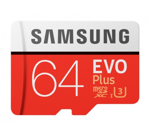 MEMORY CARD MICRO SDXC 64GB C10 SAMSUNG EVO PLUS MB-MC64GA/EU