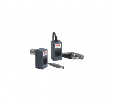 VIDEO BALUN 1CH VIDEO/300M DC/100M RJ45 PER CAVO UTP CAT.5 - VS-VB-KS202+DCA (DC+AUDIO)
