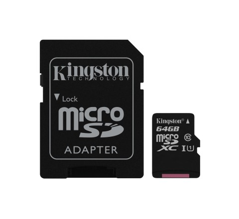 MEMORY CARD MICRO SD 64GB c10 UHS-I KINGSTON CANVAS SDCS/64GB