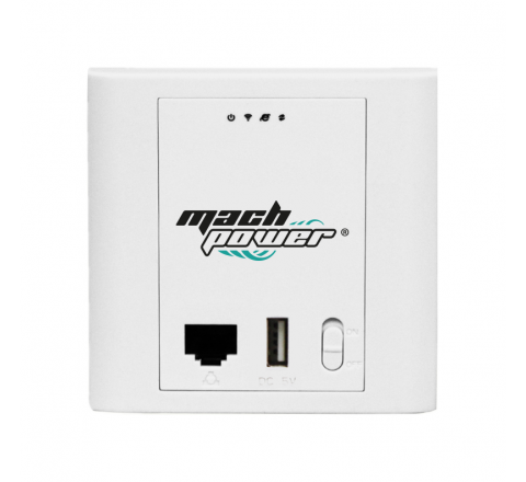 MACH POWER IN-WALL ACCESS POINT 802.11N 2,4GHZ, 300MBPS, POE 24V, 2*WAN/LAN PORT, 1*USB2,0 5V/1A PORT, 15DBI ANTENNA, AC CONTROLLER SYSTEM WL-IWNAP24-054