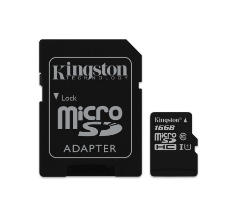 MEMORY CARD MICROSD 16GB UHS-I C10 KINGSTON CANVAS SELECT SDCS/16GB