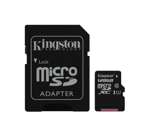 MEMORY CARD MICRO SD 128GB c10 UHS-I KINGSTON CANVAS SDCS/128GB