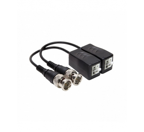 COPPIA VIDEO BALUN PASSIVO PER TELECAMERE AHD/TVI/CVI/960H ALIMENTAZIONE + VIDEO VULTECH SECURITY VS-BLP4201-HD